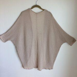 Rolla Coster Sweaters - Kimono Sweater Rolla Coster Beige Cotton Knit Sz L
